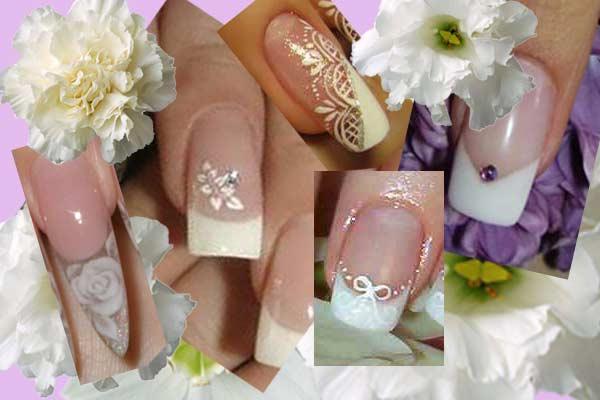 дизайн ногтей свадебный кружево: